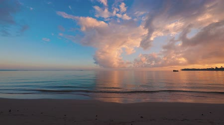 barbados : Beautiful sunrise over the tropical beach