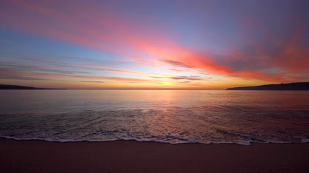 beach panorama : Sea sunrise and ripple waves, beautiful morning on the beach