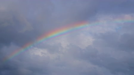 karibský : Rainbow in the sky after summer rain in the tropics