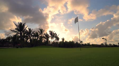 фарватер : Tropical golf course at sunset, Dominican Republic, Punta Cana