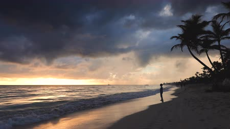 barbados : Punta Cana, Dominican Republic. Landscape of paradise tropical island beach and beautiful sunrise