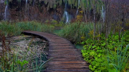 plitvice : Beautiful waterfall, lakes and autumn forest in Plitvice National Park, Croatia
