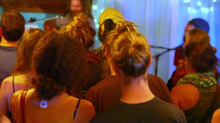 concert crowd : Filmed in a small microbrewery pub during a concert