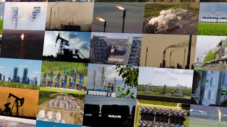Collage de l'industrie du pétrole et du gaz. 4K
