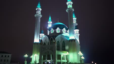 kul : Kul Sharif mosque in Kazan Kremlin at night. Russia