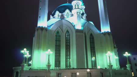 Kul Sharif mosque in Kazan Kremlin at night. Russia