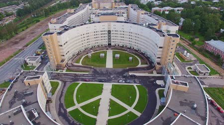 Clinical infectious diseases hospital Botkin in the city of Saint-Petrsburg. Aerial view