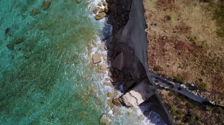 оттенки : Aerial view of a promontory, coast, cliff, cliff overlooking the sea, Sant Irene, Briatico, Calabria. italy