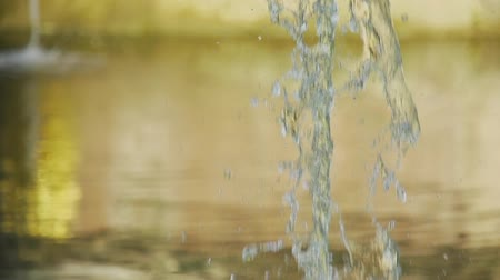 Slow motion fountain jets close-up Stock Footage