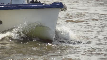 The bow of boat slow motion