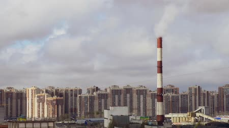 residential areas of Saint-Petersburg timelapse