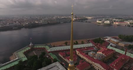 citadela : Peter and Paul Fortress in Saint-Petersburg tower