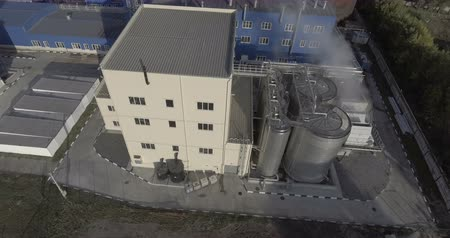 industrial evaporator aerial Stok Video