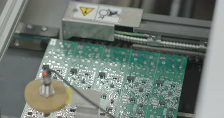 componente : PCB production line closeup