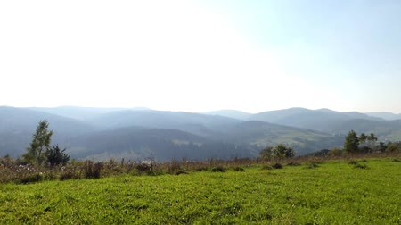 peak : Top of Carpathians Mountains - Panorama. Beautiful Shot.