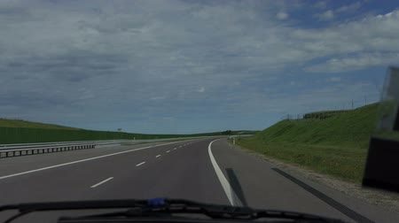 metin alanı : A quickly changing view of a highway in Poland in summer