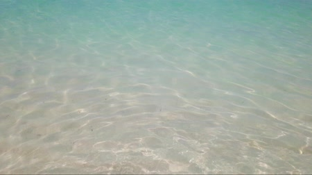 limpar : Texture of clear turquoise sea water surface. Can be used as summer background, 4K clip