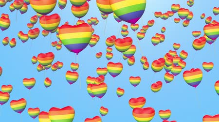 orgullo gay : globos del orgullo gay Archivo de Video