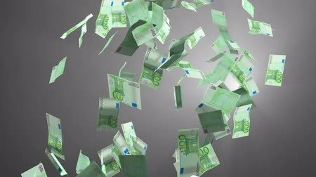 geld : Dalende euro geld  Stockvideo