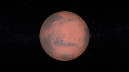 teleskop : Planet Mars Rotation Seamless Loop Stok Video