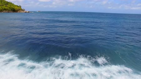 takamaka : Aerial View Of Waves in The Indian Ocean, Anse Takamaka, Seychelles 2