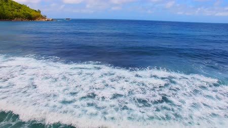 takamaka : Aerial View Of Waves in The Indian Ocean, Anse Takamaka, Seychelles 1