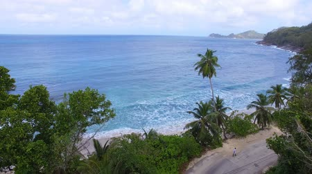 takamaka : Aerial View Of Anse Takamaka Bay And The Road 2, Mahe Island, Seychelles