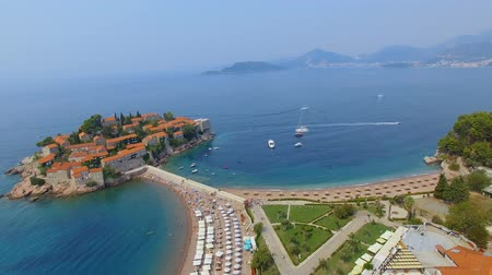 Aerial View Of Hotels on The Island, Montenegro, Sveti Stefan 5
