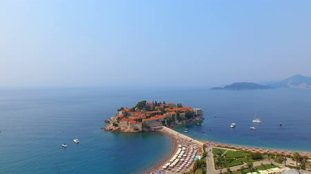 Aerial View Of Hotels on The Island, Montenegro, Sveti Stefan 6