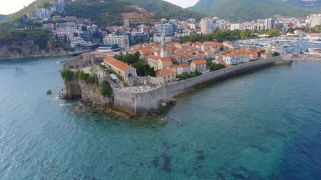 Aerial View Of Sea and Budva Old Town, Montenegro 1