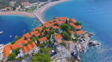 Aerial View Of Hotels on The Island, Montenegro, Sveti Stefan 9