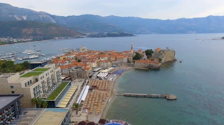 Aerial View Of Budva Old Town and Beach, Montenegro 12