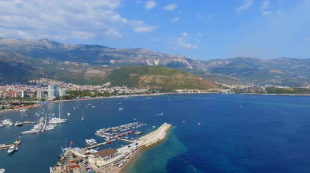 Aerial View Of Budva Shore And Mountains, Montenegro 1