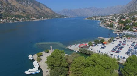 Aerial View Of Boka Kotorska Bay, Kotor, Montenegro 1 Stock Footage