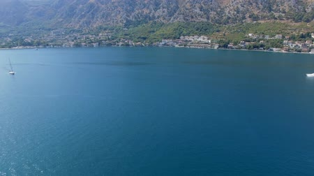 Aerial Panorama Of Boka Kotorska Bay, Montenegro 1 Stock Footage