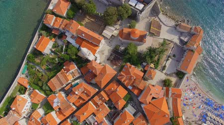 Aerial View Of Budva Old Town Rooftops, Montenegro 1
