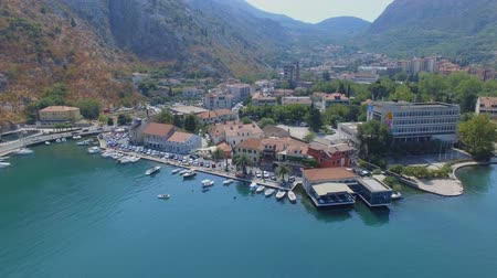 Aerial View Of Kotor Pier And Mountains, Boka Kotorska, Montenegro 1