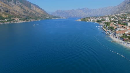 Aerial View Of Boka Kotorska Bay, Kotor, Montenegro 2 Stock Footage
