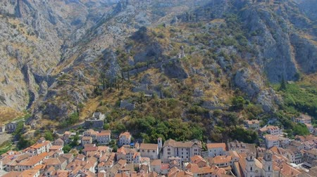 sail rock : Aerial View Of Kotor Old Town And Mountains, Boka Kotorska, Montenegro 1