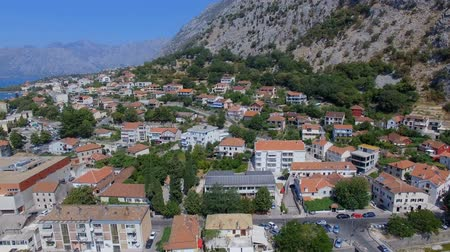 Aerial View Of Kotor Town, Bay and Mountains, Montenegro 3