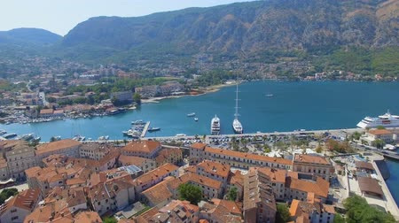 Aerial View Of Kotor Pier And Mountains, Boka Kotorska, Montenegro 3
