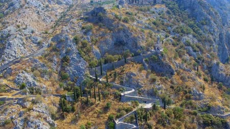 Aerial View Of A Church Chapel In The Mountains, Kotor, Montenegro 3