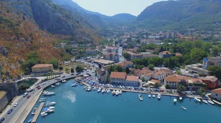 Aerial View Of Kotor Pier And Mountains, Boka Kotorska, Montenegro 2