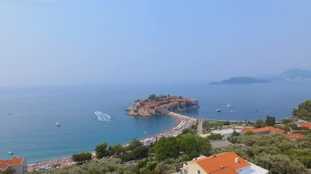 Aerial View Of Hotels on The Island, Montenegro, Sveti Stefan 11