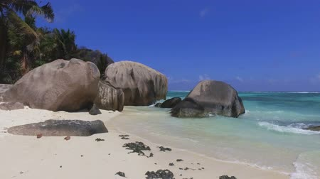 Walking On Luxury Beach To Rocks, Anse Source dArgent, La Digue, Seychelles 1