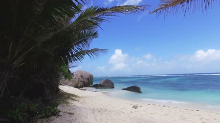 Walking On The Luxury Beach, Anse Source dArgent, La Digue, Seychelles 2 Stock Footage