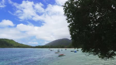 mahe : View Of Anse LIslette Bay And Boats, Mahe Island, Seychelles