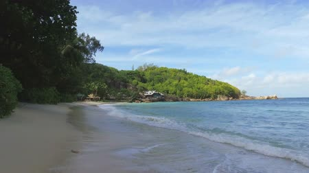 takamaka : Walking On Takamaka Beach, Mahe Island, Seychelles 1 Stock Footage
