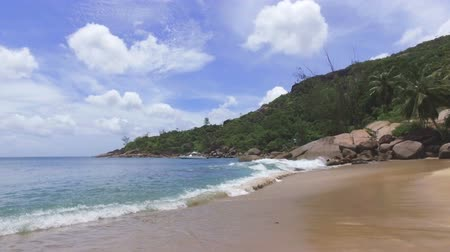 mahe : View Of The Indian Ocean And Anse Major Beach, Mahe Island, Seychelles 1