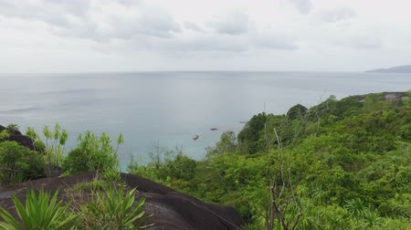mahe : Panorama Of The Indian Ocean And Rocks, Mahe Island, Seychelles